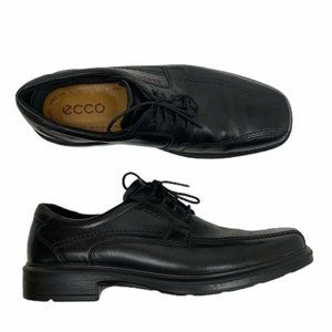 Ecco Black Leather Derby Laced Dress Shoes 46